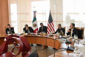 Ciudad de México., 5 de diciembre de 2019.- Este jueves, en la Secretaría de Relaciones Exteriores, se realizó una reunión bilateral con Estados Unidos, en materia de seguridad.