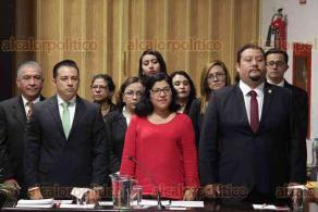 Xalapa, Ver., 6 de diciembre de 2019.- La secretaria de Medio Ambiente, Rocío Pérez Pérez, acudió al Congreso del Estado para comparecer ante diputados por la Glosa del Primer Informe de Gobierno.
