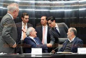 Ciudad de México, 11 de diciembre de 2019.- Los senadores de las comisiones unidas de Trabajo, Relaciones Exteriores y dictaminadoras se reunieron con el jefe de las negociaciones para el T-MEC, Jesús Seade, para tener información sobre el protocolo de modificación.