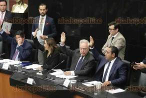 Ciudad de México, 12 de diciembre de 2019.- Las comisiones unidas de Trabajo, de Puntos Constitucionales, de Economía y de Relaciones Exteriores del Senado aprobaron por unanimidad el acuerdo modificatorio al T- MEC.