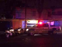 Xalapa, Ver., 12 de diciembre de 2019.- La agresión a balazos contra tres personas se registró en una vulcanizadora ubicada sobre la avenida Ruiz Cortines, a la altura de la calle Acueducto.