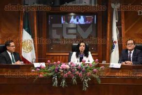 Xalapa, Ver., 14 de diciembre de 2019.- En sesión solemne del TEV, la doctora Claudia Díaz Tablada rindió protesta como Magistrada Presidenta.