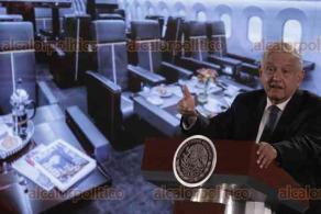 Ciudad de México, 17 de enero de 2020.- El presidente Andrés Manuel López Obrador informó de una posible lotería para el avión presidencial, contemplándose también su venta directa o renta por parte de SEDENA.