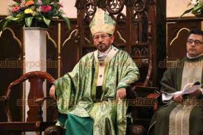 Xalapa, Ver., 19 de enero de 2020.-  Los corderos solían sacrificarse para Dios, pero matar a estos animales, que también se comen para sobrevivir, no nos otorga el perdón divino, señaló el arzobispo Hipólito Reyes.