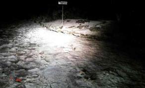 Perote, Ver., 20 de enero de 2020.- Protección Civil de Perote informó que alrededor de las 18:45 horas de este lunes, se registró la caída de nieve en el Cofre de Perote, afectando a la comunidad de El Conejo y Pescados.