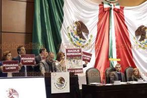 Ciudad de México, 22 de enero de 2020.- Ante el Congreso de la Unión, la titular de la CNDH, Rosario Piedra, defendió el plan de austeridad y condenó altos gastos de la anterior Presidencia. Panistas denunciaron que su designación fue ilegal y está desinformada.