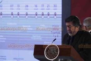 Ciudad de México, 24 de enero de 2020.- En la conferencia mañanera, Rogelio Jiménez Pons, director de FONATUR, anunció la licitación para empresas constructoras para la obra del Tren Maya en las etapas 1 y 2.
