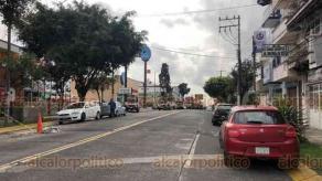 Xalapa, Ver., 24 de enero de 2020.- Fuerte movilización policiaca se dio en la avenida 20 de Noviembre, por un asalto en