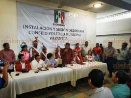 Papantla, Ver., 25 de enero de 2020.- El presidente del CED del PRI, Marlon Ramírez, encabezó el Consejo Político Municipal, evento en el cual se contó con la presencia de la senadora Beatriz Paredes Rangel.