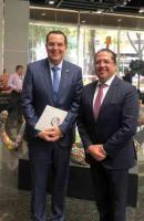 El senador Ernesto Pérez Astorga asistió la signa de convenio entre el Instituto Mexicano de Propiedad Industrial y la Oficina de Patentes y Marcas de los Estados Unidos, que permitirá impulsar un sistema de patentes que fomente la innovación y el desarrollo económico.