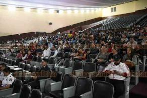 Xalapa, Ver., 18 de febrero de 2020.- Se llevó a cabo la Reunión Regional de Información para la Gestión Integral del Riesgo en Materia de Protección Civil, en la Normal Veracruzana.