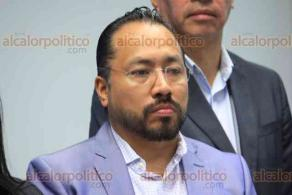 Xalapa, Ver., 18 de febrero de 2020.- El presidente del PAN Estatal, Joaquín Guzmán, anunció que apoyarán en el ámbito legal al alcalde de Actopan, José Paulino Domínguez, quien es acusado de presunto daño patrimonial.