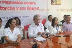 Xalapa, Ver., 18 de febrero de 2020.- El Movimiento Antorchista Nacional exigió que se detengan las amenazas y represión política del gobernador morenista del Estado de Puebla, Miguel Barbosa Huerta.
