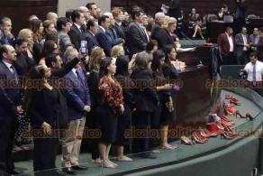 Ciudad de México, 18 de febrero de 2020.- En la Cámara de Diputados, se confrontaron partidos de oposición con MORENA y PT durante el punto de acuerdo para rechazar la violencia contra las mujeres y las niñas. Exhortan a la unidad legislativa para abordar la violencia feminicida.