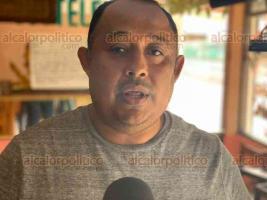 """Coatzacoalcos, Ver., 19 de febrero de 2020.- """"Esto ya está colapsado"""", dice Enrique Lavín, dueño de la marisquería"""