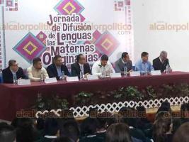 Xalapa, Ver., 21 de febrero de 2020. El secretario de la SEV, Zenyazen Escobar García, inauguró la Jornada de Difusión de las Lenguas Maternas Originarias, el Día Internacional de la Lengua Materna.