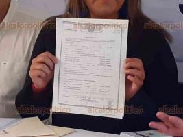Xalapa, Ver., 24 de febrero de 2020.- Disidentes del SDTEV anunciaron que impugnarán toma de nota de José Arturo Hernández mediante un juicio de amparo. Afirman que presentó 200 firmas falsificadas.