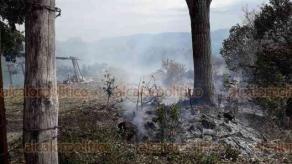 """Coatepec, Ver., 26 de febrero de 2020.- Este miércoles, se incendiaron pastizales en el lugar conocido como """"La Calera"""", en la congregación de Tepeapulco. Se logró contener gracias a la oportuna intervención de cuerpos de auxilio."""