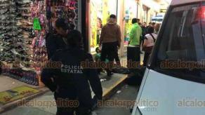 Xalapa, Ver., 26 de febrero de 2020.- Paramédicos de Código Bravo atendieron el reporte de una persona lesionada por arma blanca en la calle Abasolo, en el centro de la ciudad, sin embargo, se confirmó que se trataba de una persona en estado de ebriedad.