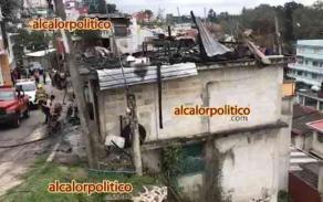 Xalapa, Ver., 28 de febrero de 2020.- La tarde de este viernes, se registró el incendio de una vivienda en la calle Isauro Acosta, en la colonia Rafael Hernández Ochoa, el cual fue controlado por cuerpos de emergencia.