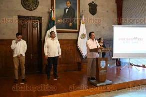 """Xalapa, Ver., 27 de marzo de 2020.- El gobernador del Estado, Cuitláhuac García, anunció el programa """"Promover nos une"""" ante la contingencia del COVID-19."""