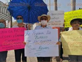 Veracruz, Ver., 28 de marzo de 2020.- Personal médico exige a la Secretaría de Salud equipo adecuado para atender a personas que presenten síntomas de COVID-19.