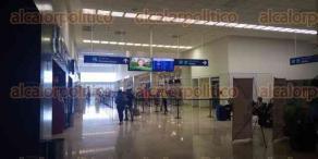 Veracruz, Ver., 28 de marzo de 2020.- Como parte de los protocolos sanitarios, en el aeropuerto