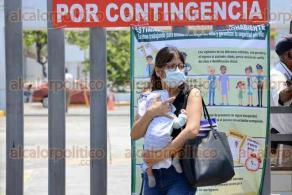 Veracruz Ver., 28 de marzo 2020.- A pesar de que nos encontramos en la fase dos del coronavirus, muchos niños pequeños y adultos mayores tienen la necesidad de asistir a hospitales debido a algún tipo de enfermedad, quedando expuestos al contagio del COVID-19.