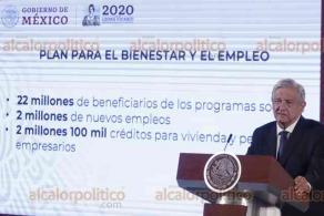 Ciudad de México, 6 de abril de 2020.- El presidente Andrés Manuel López Obrador destacó la solidaridad del pueblo y la recuperación de la economía ante la emergencia sanitaria nacional por COVID-19 con su programa económico para la contingencia.
