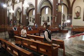 Xalapa, Ver., 31 de mayo de 2020.- El Arzobispo de Xalapa, Hipólito Reyes Larios, presidió la celebración de Solemnidad de Pentecostés en la Catedral Metropolitana.