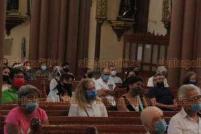Xalapa, Ver., 5 de julio de 2020.- El arzobispo de la Arquidiócesis de Xalapa Hipólito Reyes Larios expresó que la iglesia católica ha estado comprometida ante la pandemia y con el confinamiento por el COVID-19.