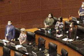 Ciudad de México, 5 de agosto de 2020.- En el Senado, la Comisión Permanente guardó un minuto de silencio en memoria de las víctimas por la explosión en Beirut, Líbano.