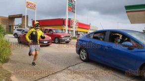 Coatzacoalcos, Ver., 9 de agosto de 2020.- el grupo de runners Wellness, corrió medio maratón desde el malecón hasta el restaurante
