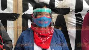 Xalapa, Ver., 9 de agosto de 2020.- Integrantes de organizaciones civiles y colectivos a favor del medio ambiente y la cultura se manifestaron en los bajos del puente Xallitic para pronunciarse en contra del Tren Maya.