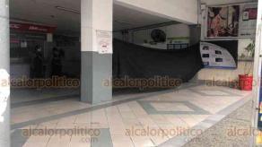 Minatitlán, Ver., 14 de agosto de 2020.- Pese a ser una zona concurrida, los ladrones se llevaron 2 cajeros automáticos de la terminal del ADO, en la calle Lerdo de Tejada sin que fueran detenidos.