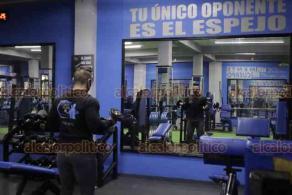 Ciudad de México, 21 de septiembre de 2020.- El gimnasio Guerrero Fitness Club reabrió sus puertas con las medidas de sanidad y ahora esperan el regreso de sus clientes. El ejercicio ayudará a la salud y relajación ante la pandemia por COVID-19.