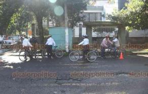 Xalapa, Ver., 22 de septiembre de 2020.- El alcalde de Xalapa, Hipólito Rodríguez Herrero, inauguró la rodada ciclista para conmemorar el Día Mundial sin Auto, en la esquina de avenida Adolfo Ruíz Cortines y Prolongación Villahermosa.