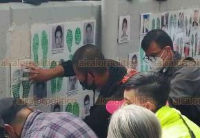 Ciudad de México, 25 de septiembre de 2020.- En la sede de la  FGR, padres de los 43 normalistas de Ayotzinapa colocaron un memorial y se reunieron con funcionarios. Reiteran exigencia de justicia y destacan los buenos resultados a un día de cumplirse los 6 años de la desaparición forzada.