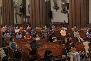 Xalapa, Ver., 27 de septiembre de 2020.- El arzobispo Hipólito Reyes Larios leyó parte del discurso que el Papa Francisco emitió en el marco de la 75° Asamblea General de la ONU, abordando la pandemia, los derechos humanos, el cambio climático, entre otros temas.