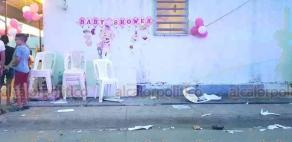 Coatzacoalcos, Ver., 28 de septiembre de 2020.- Conductor ebrio atropelló a 8 personas que celebraban un baby shower sobre la calle Quetzalcóatl, colonia Ciudad Olmeca.