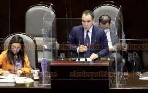 Ciudad de México, 30 de septiembre de 2020.- El secretario de Hacienda, Arturo Herrera, compareció ante la Cámara de Diputados, como parte de la glosa del II Informe del Presidente López Obrador. PAN y MC protestaron en defensa de los fideicomisos.