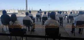Veracruz, Ver., 1° de octubre de 2020.- El director general de Aduanas, Horacio Duarte, presentó la Estrategia Integral en las Aduanas Marítimas y se hizo el nombramiento de 16 administradores de aduanas del país. Al evento asistió el gobernador Cuitláhuac García Jiménez.