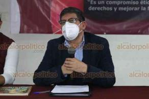 Xalapa, Ver., 17 de octubre de 2020.- El secretario de Derechos Humanos y Sociales de MORENA, Alejandro Moreno Hernández, ofreció conferencia de prensa para medios de comunicación, en el Hotel Xalapa, para informar sobre el proceso interno que vive actualmente el partido.