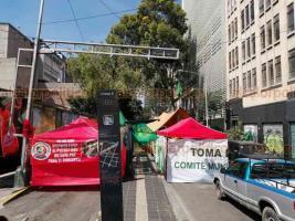 Ciudad de México, 21 de octubre de 2020.- Campesinos marcharon por Paseo de la Reforma y se plantaron en la calle Donato Guerra, cerca de la Secretaría de Gobernación, para demandar apoyos.