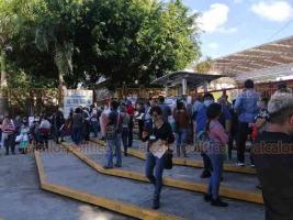 Xalapa, Ver., 26 de septiembre de 2020.- Integrantes del MMPV-CNTE denunciaron que aunque ya se dio marcha atrás a la Reforma Educativa peñista, la SEV sigue sin reconocer a quienes no pudieron obtener promociones, claves o cambios de adscripción.