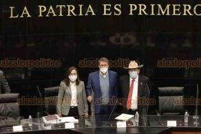 Ciudad de México, 26 de octubre de 2020.- La secretaria de Energía, Rocio Nahle, compareció ante la Comisión de Energía del Senado. Se guardó un minuto de silencio en memoria del senador Joel Molina, fallecido por Coronavirus.