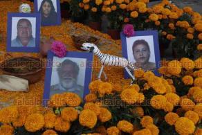 Ciudad de México, 28 de octubre de 2020.- La Cámara de Diputados instaló su ofrenda de Día de Muertos para los compañeros fallecidos.