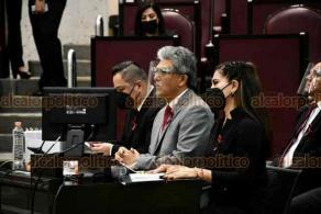 Xalapa, Ver., 23 de noviembre de 2020.- El secretario de Desarrollo Social, Guillermo Fernández Sánchez, compareció este lunes ante la Comisión de Desarrollo Social, Humano y Regional del Congreso local.