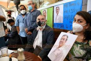 Xalapa, Ver., 23 de noviembre de 2020.- Integrantes de la organización LAVIDA demandaron a las autoridades apurar las investigaciones por el plagio y desaparición del activista Miguel Vázquez Martínez.