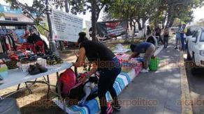 """Veracruz, Ver., 5 de diciembre de 2020.- """"No nos vamos a retirar, tenemos la necesidad de comer, de trabajar y no nos vamos a retirar"""", declararon comerciantes."""
